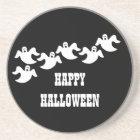 Ghost Party Halloween Coaster, Black Coaster