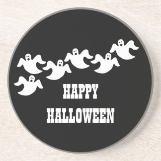 Ghost Party Halloween Coaster, Black Coaster