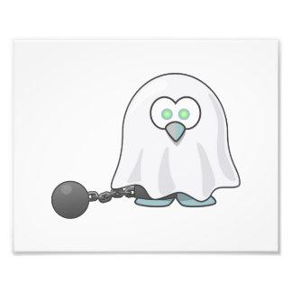 Ghost Penguin Art Photographic Print