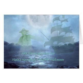 Ghost Pirate Halloween card