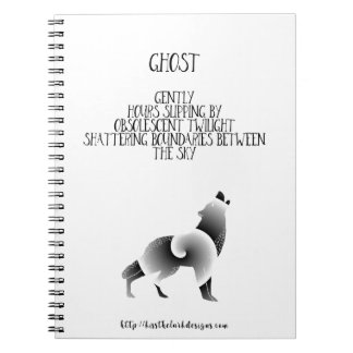Ghost - Poetry by Jessica Fuqua Notebooks