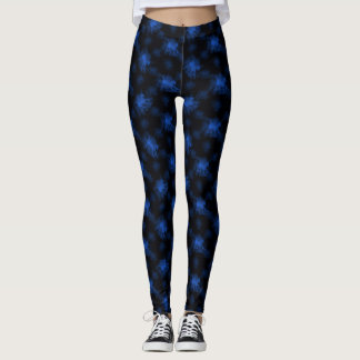 Ghost Pony Blue Leggings