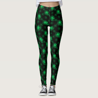 Ghost Pony Green Leggings