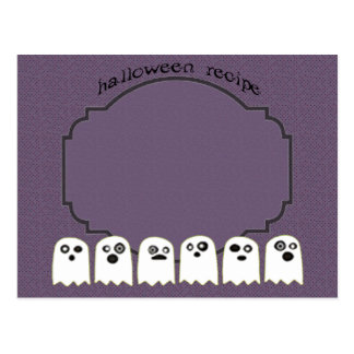 ghost recipe card