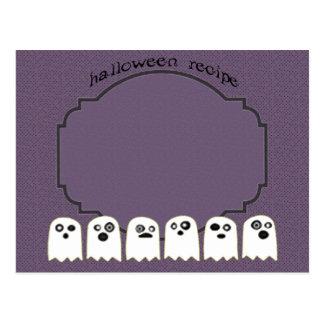 ghost recipe card postcard