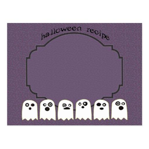 ghost recipe card post card