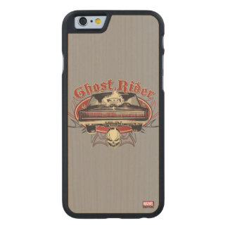 Ghost Rider Badge Carved Maple iPhone 6 Case