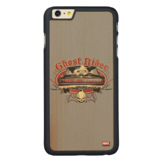 Ghost Rider Badge Carved Maple iPhone 6 Plus Case