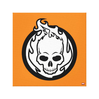 Ghost Rider Icon Canvas Print