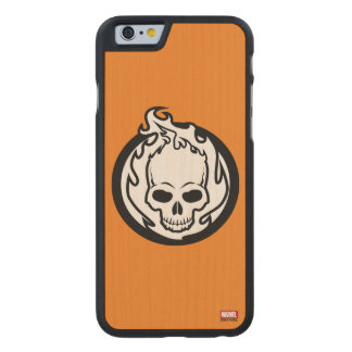 Ghost Rider Icon Carved Maple iPhone 6 Case