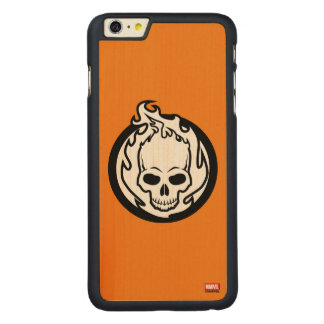 Ghost Rider Icon Carved Maple iPhone 6 Plus Case