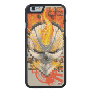 Ghost Rider Skull Badge Carved Maple iPhone 6 Case