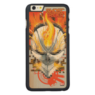 Ghost Rider Skull Badge Carved Maple iPhone 6 Plus Case