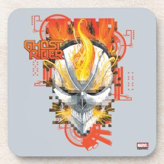 Ghost Rider Skull Badge Drink Coaster