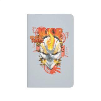 Ghost Rider Skull Badge Journal