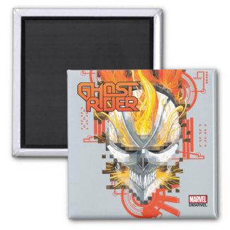 Ghost Rider Skull Badge Magnet