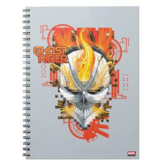 Ghost Rider Skull Badge Spiral Notebook
