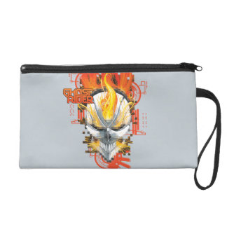 Ghost Rider Skull Badge Wristlet Clutches