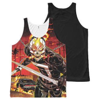 Ghost Rider With Knives All-Over-Print Tank Top