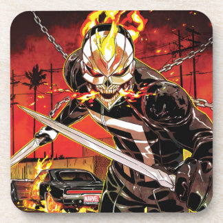 Ghost Rider With Knives Beverage Coasters