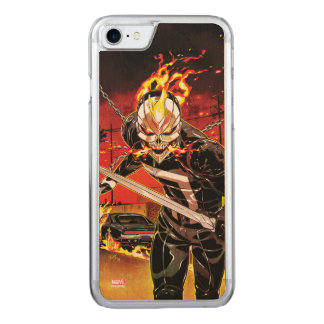 Ghost Rider With Knives Carved iPhone 8/7 Case