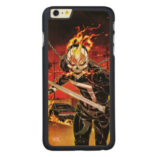 Ghost Rider With Knives Carved Maple iPhone 6 Plus Case