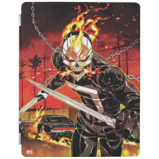Ghost Rider With Knives iPad Cover