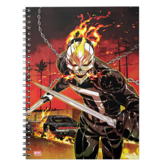 Ghost Rider With Knives Notebooks
