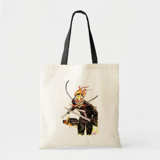Ghost Rider With Knives Tote Bag