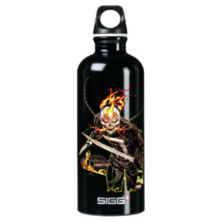 Ghost Rider With Knives Water Bottle