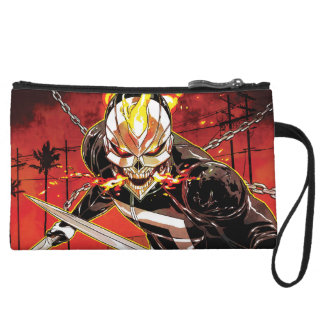 Ghost Rider With Knives Wristlet Clutch