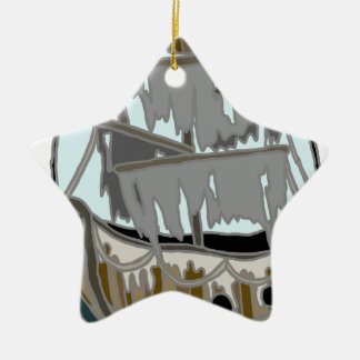 Ghost Ship Ceramic Ornament