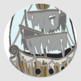 Ghost Ship Classic Round Sticker