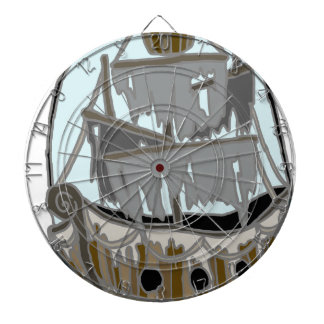 Ghost Ship Dartboard