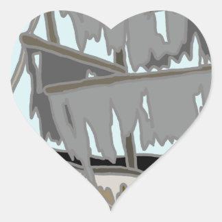 Ghost Ship Heart Sticker