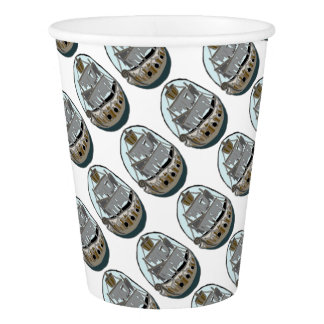 Ghost Ship Paper Cup