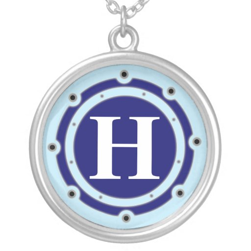 Ghost Ship Port Hole Initial Custom Jewelry