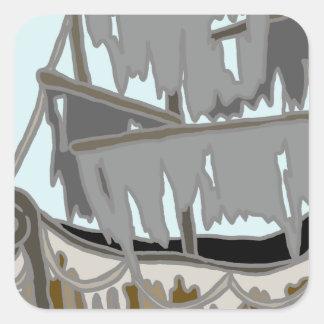 Ghost Ship Square Sticker