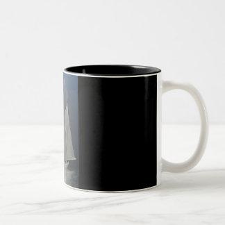 """Ghost Ship"" Two-Tone Coffee Mug"