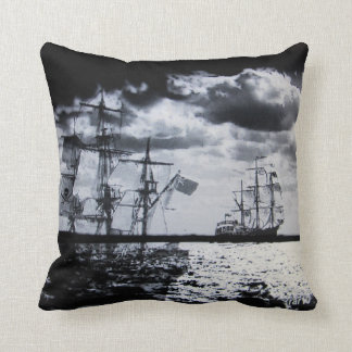 Ghost Ships of the Sea Throw Pillow