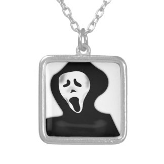 Ghost Silver Plated Necklace