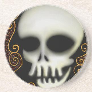 Ghost Skull Beverage Coasters