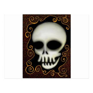 Ghost Skull Postcard