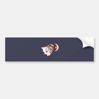 Ghost Sloth Bumper Sticker