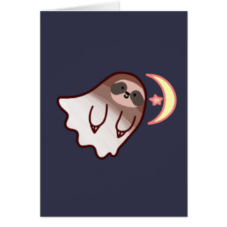 Ghost Sloth Card