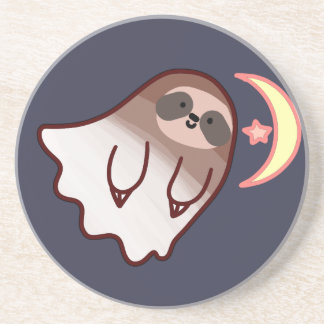 Ghost Sloth Coaster