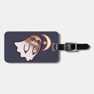 Ghost Sloth Luggage Tag