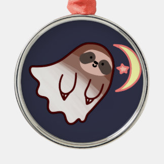 Ghost Sloth Metal Ornament