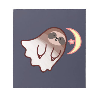 Ghost Sloth Notepad