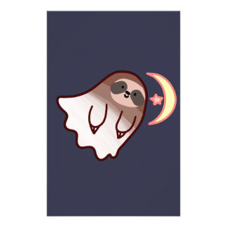 Ghost Sloth Stationery Design